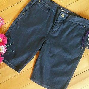 NWT {I •N•C} Dark Denim Shorts
